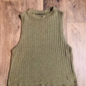Green Ribbed Tank